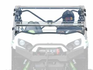 UTV Windshield - Flip Windshields - SuperATV - Kawasaki Teryx 750 / 800 Scratch Resistant Flip Windshield (2016+)