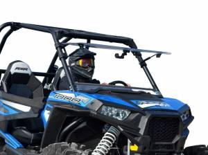 UTV Windshield - Flip Windshields - SuperATV - Polaris RZR XP Turbo Scratch Resistant Flip Windshield (2016-18) (Without Ride Command)