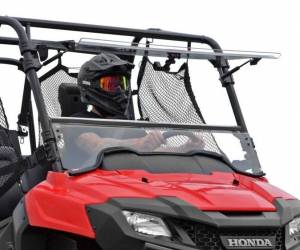 UTV Windshield - Flip Windshields - SuperATV - Honda Pioneer 700 Scratch Resistant Flip Windshield