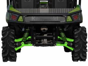 "UTV/ATV - UTV Radius Arms - SuperATV - Kawasaki Teryx High Clearance 1.5"" Rear Offset  A Arms (2012-15) (Green)"