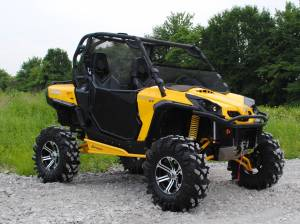 UTV Windshield - Half Windshields - SuperATV - Can-Am Commander Half Windshield (Standard Polycarbonate) - Dark Tint