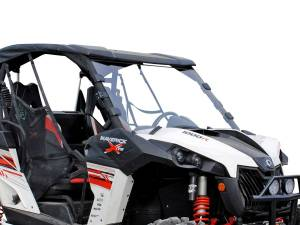 UTV Windshield - Full/ Vented Windshields - SuperATV - Can-Am Maverick Scratch Resistant Full Windshield