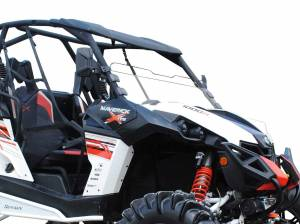 UTV Windshield - Half Windshields - SuperATV - Can-Am Maverick Scratch Resistant Half Windshield (Scratch Resistant Polycarbonate) Clear