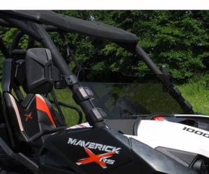UTV Windshield - Half Windshields - SuperATV - Can-Am Maverick Scratch Resistant Half Windshield (Standard Polycarbonate) Dark Tint