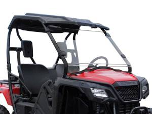 UTV Windshield - Full/ Vented Windshields - SuperATV - Honda Pioneer 500 Scratch Resistant Full Windshield