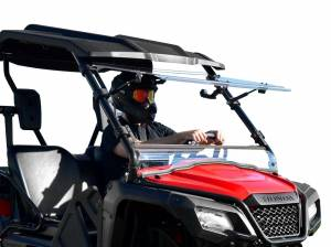 UTV Windshield - Flip Windshields - SuperATV - Honda Pioneer 500 Scratch Resistant Flip Windshield
