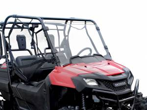 UTV Windshield - Full/ Vented Windshields - SuperATV - Honda Pioneer 700 Scratch Resistant Full Windshield
