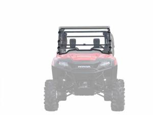 UTV Windshield - Flip Windshields - SuperATV - Honda Pioneer 700 Flip Down Windshield (Scratch Resistant Polycarbonate) Clear