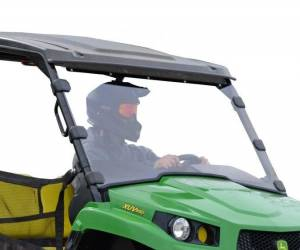 UTV Windshield - Full/ Vented Windshields - SuperATV - John Deere Gator XUV Full Windshield - Scratch Resistant