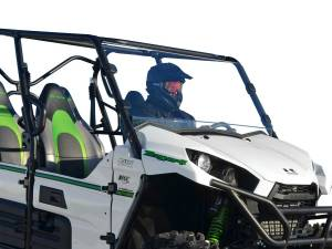 UTV Windshield - Full/ Vented Windshields - SuperATV - Kawasaki Teryx 750 / 800 Scratch Resistant Full Windshield (2012-2015)
