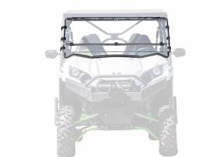 UTV Windshield - Flip Windshields - SuperATV - Kawasaki Teryx Flip Down Windshield (Scratch Resistant Polycarbonate)-Clear