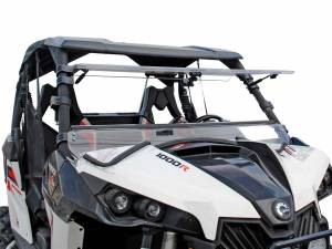 UTV Windshield - Flip Windshields - SuperATV - Can-Am Maverick Scratch Resistant Flip Windshield