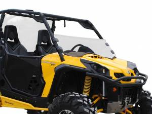 UTV Windshield - Half Windshields - SuperATV - Can-Am Commander Half Windshield (Scratch Resistant Polycarbonate) - Clear