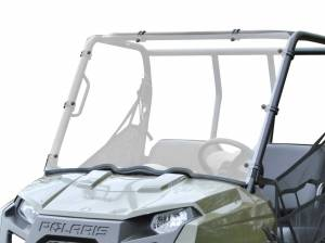UTV Windshield - Full/ Vented Windshields - SuperATV - Polaris Ranger Midsize Scratch Resistant Full Windshield