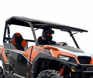 UTV Windshield - Flip Windshields - SuperATV - Polaris General Scratch Resistant Flip Windshield