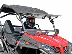 UTV Windshield - Flip Windshields - SuperATV - CFMOTO ZForce Scratch Resistant Flip Windshield
