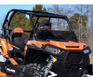 UTV Windshield - Half Windshields - SuperATV - Polaris RZR XP Turbo Half Windshield (2016-18) Stanadard Polycarbonate- Dark Tint