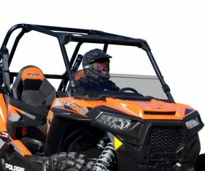 UTV Windshield - Half Windshields - SuperATV - Polaris RZR XP 1000 Half Windshield (2014-18) Scratch Resistant Polycarbonate-Light Tint