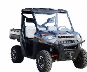 UTV Windshield - Full/ Vented Windshields - SuperATV - Polaris Ranger 1000 Full Windshield (Standard Polycarbonate)- Clear