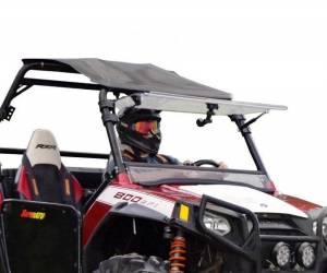 UTV Windshield - Flip Windshields - SuperATV - Polaris RZR Scratch Resistant Flip Windshield