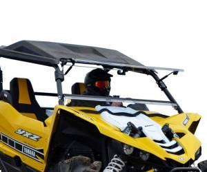 UTV Windshield - Flip Windshields - SuperATV - Yamaha YXZ Scratch Resistant Flip Windshield (2016-18)