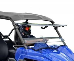 UTV Windshield - Flip Windshields - SuperATV - Yamaha Wolverine Scratch Resistant Flip Windshield