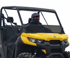 UTV Windshield - Half Windshields - SuperATV - Can-Am Defender Half Windshield (Standard Polycarbonate)- Dark Tint