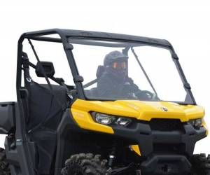 UTV Windshield - Full/ Vented Windshields - SuperATV - Can-Am Defender Scratch Resistant Full Windshield