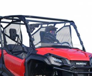 UTV Windshield - Full/ Vented Windshields - SuperATV - Honda Pioneer 1000 Full Windshield (Scratch Resistant Polycarbonate)- Clear
