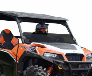 UTV Windshield - Half Windshields - SuperATV - Polaris General Half Windshield (Standard Polycarbonate) - Dark Tint