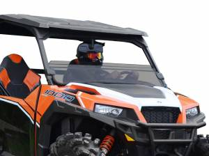 UTV Windshield - Half Windshields - SuperATV - Polaris General Half Windshield (Scratch Resistant Polycarbonate) - Light Tint
