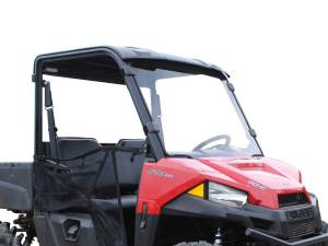 UTV Windshield - Full/ Vented Windshields - SuperATV - Polaris Ranger Midsize Full Windshield (2015+) Scratch Resistant Polycarbonate- Clear