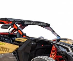 UTV Windshield - Full/ Vented Windshields - SuperATV - Can-Am Maverick X3 Full Windshield, Scratch Resistant Polycarbonate -Clear, (Machines Without Factory Intrusion Bar)