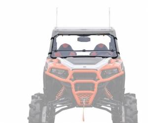 UTV Windshield - Flip Windshields - SuperATV - Polaris General Flip Down Windshield (Scratch Resistant Polycarbonate) - Clear
