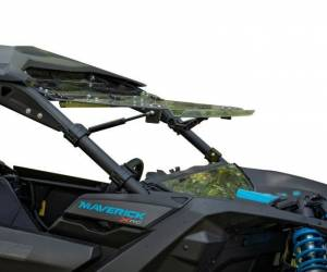 UTV Windshield - Flip Windshields - SuperATV - Can-Am Maverick X3 Flip Windshield (Standard Polycarbonate) Clear