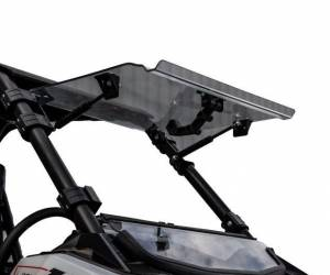 UTV Windshield - Flip Windshields - SuperATV - Polaris RS1 Scratch Resistant Flip Windshield