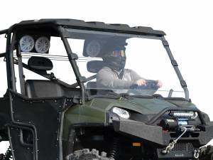 UTV Windshield - Full/ Vented Windshields - SuperATV - Polaris Ranger XP 800 Full Windshield (Scratch Resistant Polycarbonate) Clear