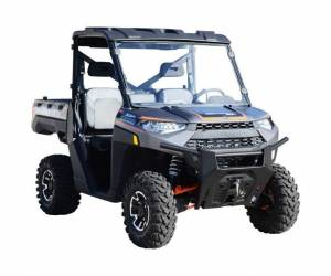 UTV Windshield - Full/ Vented Windshields - SuperATV - Polaris Ranger XP 570 Full Windshield (Scratch Resistant Polycarbonate) Clear