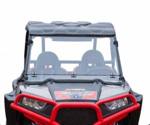 UTV Windshield - Flip Windshields - SuperATV - Polaris RZR 900 Flip Down Windshield (Scratch Resistant Polycarbonate) Clear