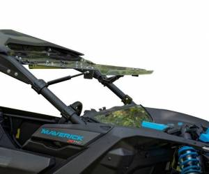 UTV Windshield - Flip Windshields - SuperATV - Can-Am Maverick X3 Flip Windshield (Scratch Resistant Polycarbonate) Clear
