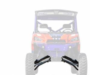 "UTV Accessories - UTV Lift Kits/ Portals - SuperATV - Polaris Ranger XP 570, Pro Fit Cab, 6"" Lift Kit, Rhino 2.0 Axles, (2015-16) Black"
