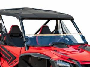 UTV Windshield - Full/ Vented Windshields - SuperATV - Honda Talon 1000, Half Windshield, Scratch Resistant (Clear)