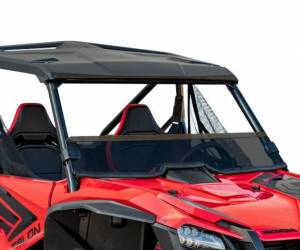 UTV Windshield - Full/ Vented Windshields - SuperATV - Honda Talon 1000, Half Windshield, Scratch Resistant (Dark Tint)