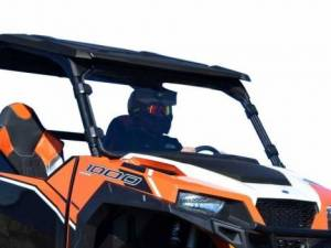UTV Windshield - Full/ Vented Windshields - SuperATV - Polaris General Full Windshield, (Scratch Resistant Polycarbonate) - Clear
