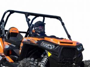 UTV Windshield - Full/ Vented Windshields - SuperATV - Polaris RZR 900 Full Windshield (Scratch Resistant Polycarbonate) Clear