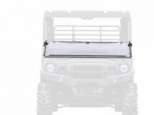 UTV Windshield - Flip Windshields - SuperATV - Kawasaki Mule Pro Flip Down Windshield (Scratch Resistant Polycarbonate) Clear