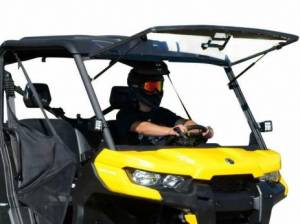 UTV Windshield - Flip Windshields - SuperATV - Can-Am Defender Scratch Resistant Flip Windshield