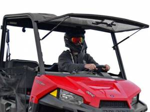 UTV Windshield - Flip Windshields - SuperATV - Polaris Ranger Midsize Scratch Resistant Flip Windshield