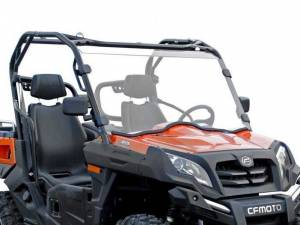 UTV Windshield - Half Windshields - SuperATV - CFMOTO UForce 800 Half Windshield (Scratch Resistant Polycarbonate) Clear