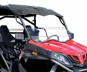 UTV Windshield - Half Windshields - SuperATV - CFMOTO ZForce Half Windshield (Scratch Resistant Polycarbonate) Clear